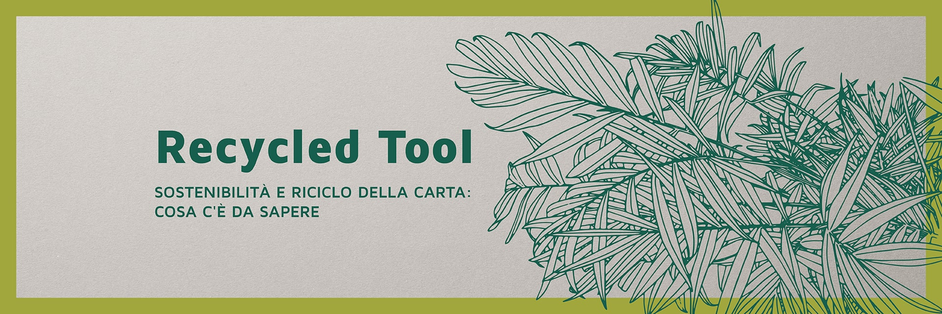 Banner Hp recycled tool italiano